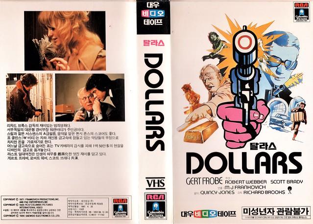 Seoul Korea vintage VHS cover art for classic caper-chase film