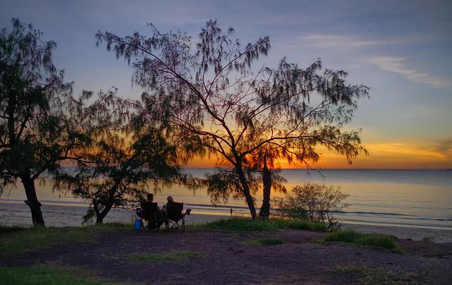 Dripstone Cliffs sunset - early dry season 2021 - Darwin Harbour, Northern Territory, Australia