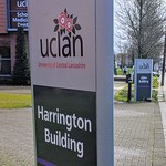 UCLan information boards at Preston