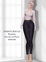 POISON ROUGE Paulette Sweater & Pants AD