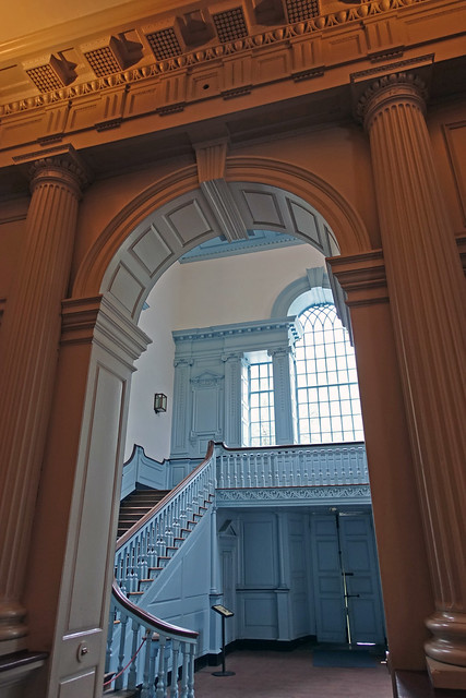 Stairway inside Independence Hall at Independence National Historic Park in Philadelphia, PA