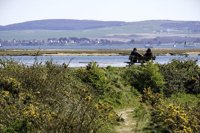 Lymington, looking towards the Isle of Wight