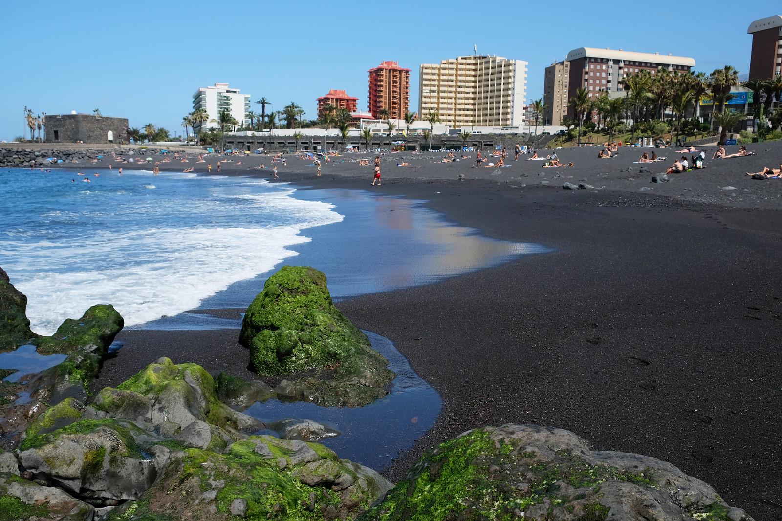 Playa Jardín, Puerto de la Cruz, Tenerife, Canary Islands, Spain