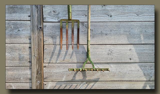 - old garden tools -