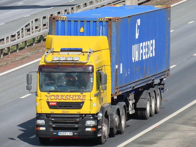 LC & S Transport, ERF-ECS (BU05LVB) On The A1M Southbound