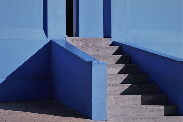 stepping into blue