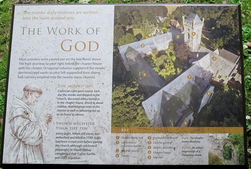 Information Board, Culross Abbey