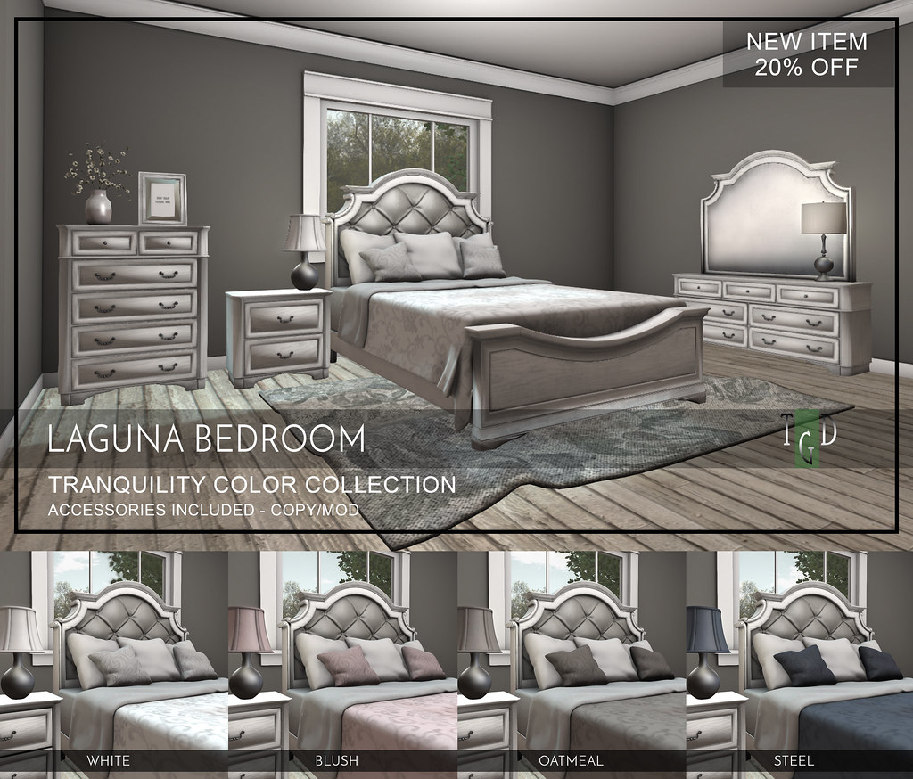 Laguna Bedroom Set - Tranquility Color Collection