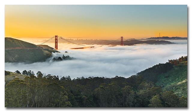 Golden Gate Low Fog Event at Sunrise  (3 of 3)