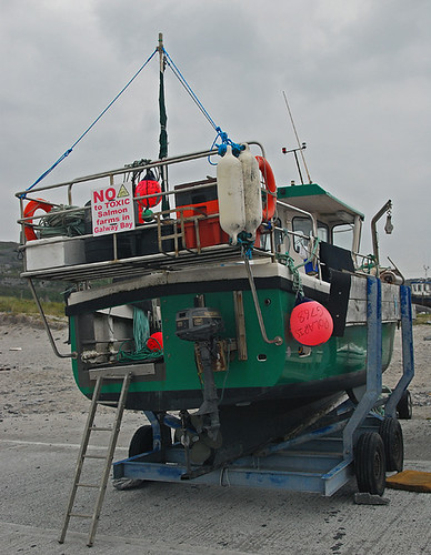Fishing boat on the Aran Island of Inisheer, Ireland