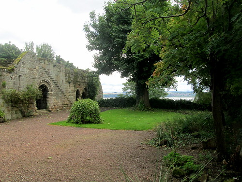 Ruins at Culross Abbey with River Forth Behind