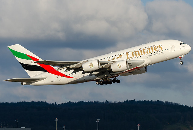 A6-EEX Emirates Airbus A380-861