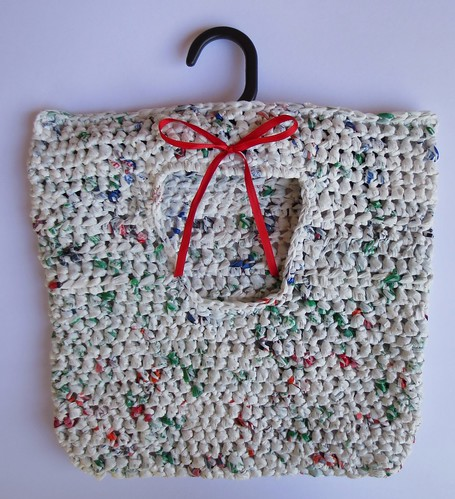 Plarn Recycled Crocheted Clothes Pin Bag