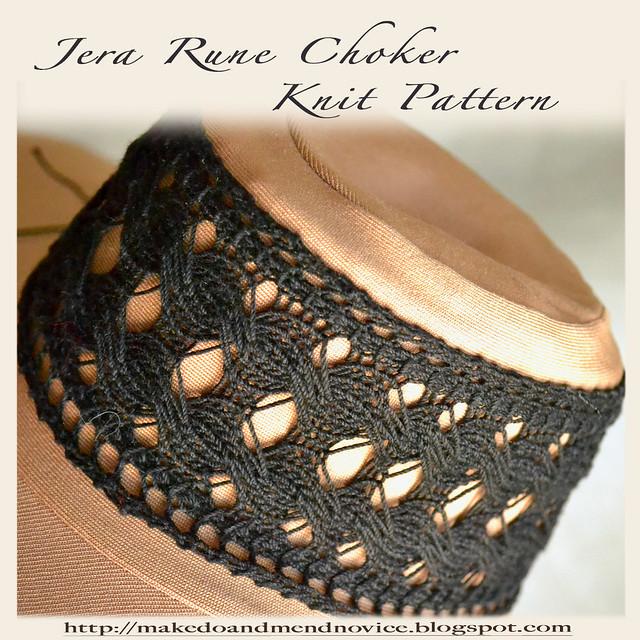 Jera Rune Choker Knitting Pattern