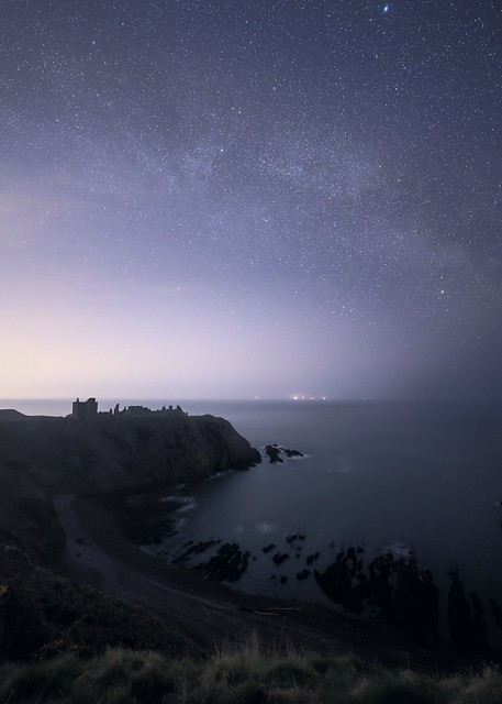 Milky Way over Dunnottar Castle