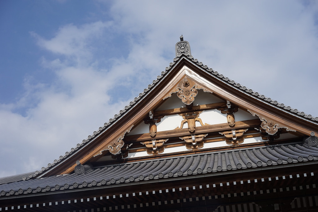 Temple rooftop, Isshin-ji