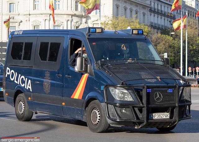 Mercedes Sprinter 1U-115 perteneciente a la UIP (Unidad de Intervención Policial) de la Policia Nacional.