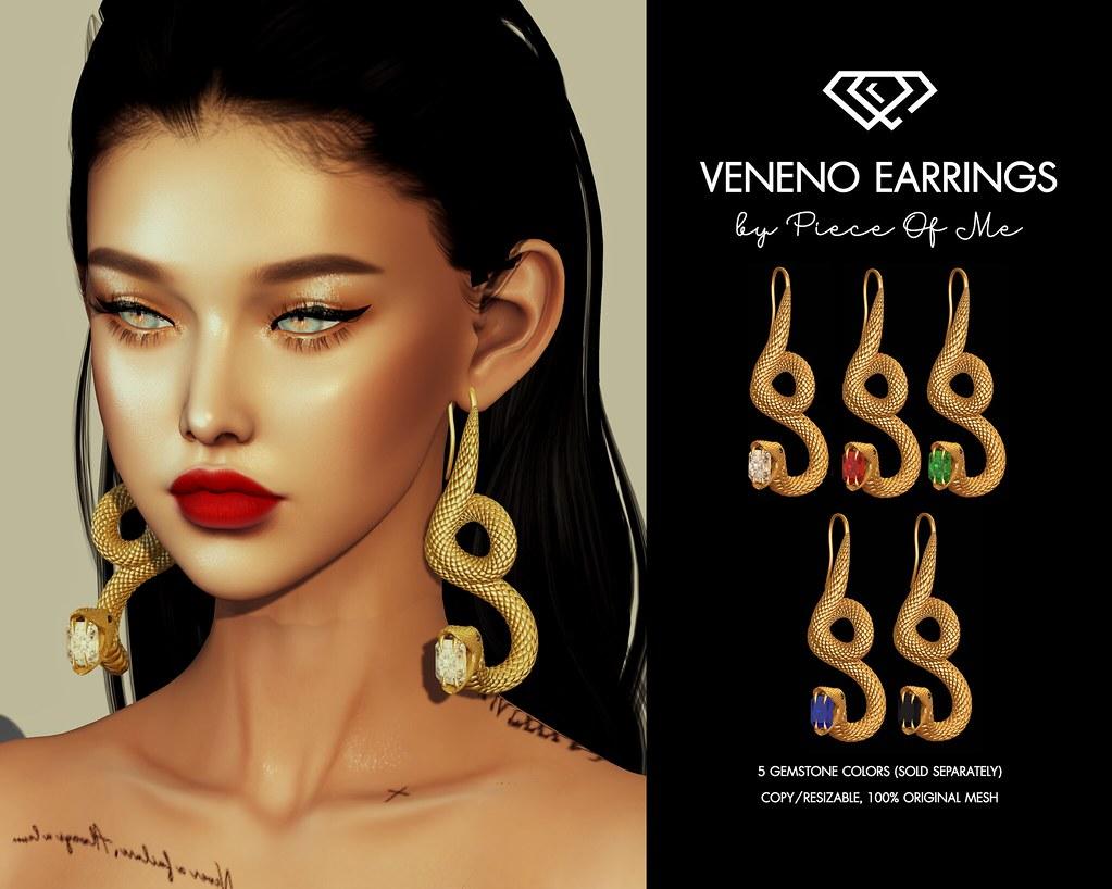 Veneno Earrings @ Dubai Event on April, 20th