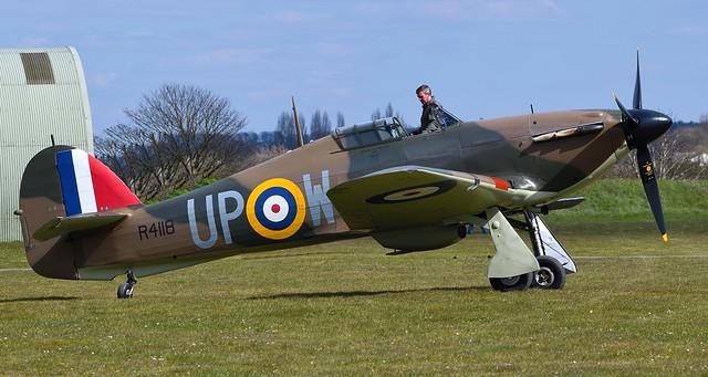 RAF Hawker Hurricane Mk-1 R4118 G-HUPW UP-W 605 Squadron
