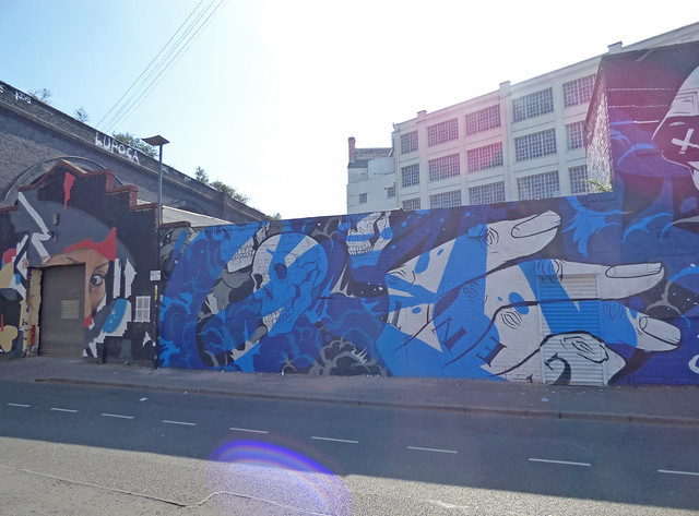 Blue and white Gent 48 on Floodgate Street at the Custard Factory