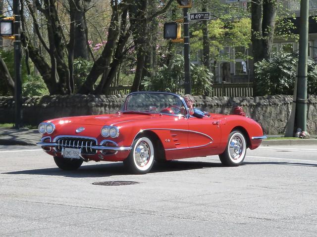 1960 Red Corvette convertible