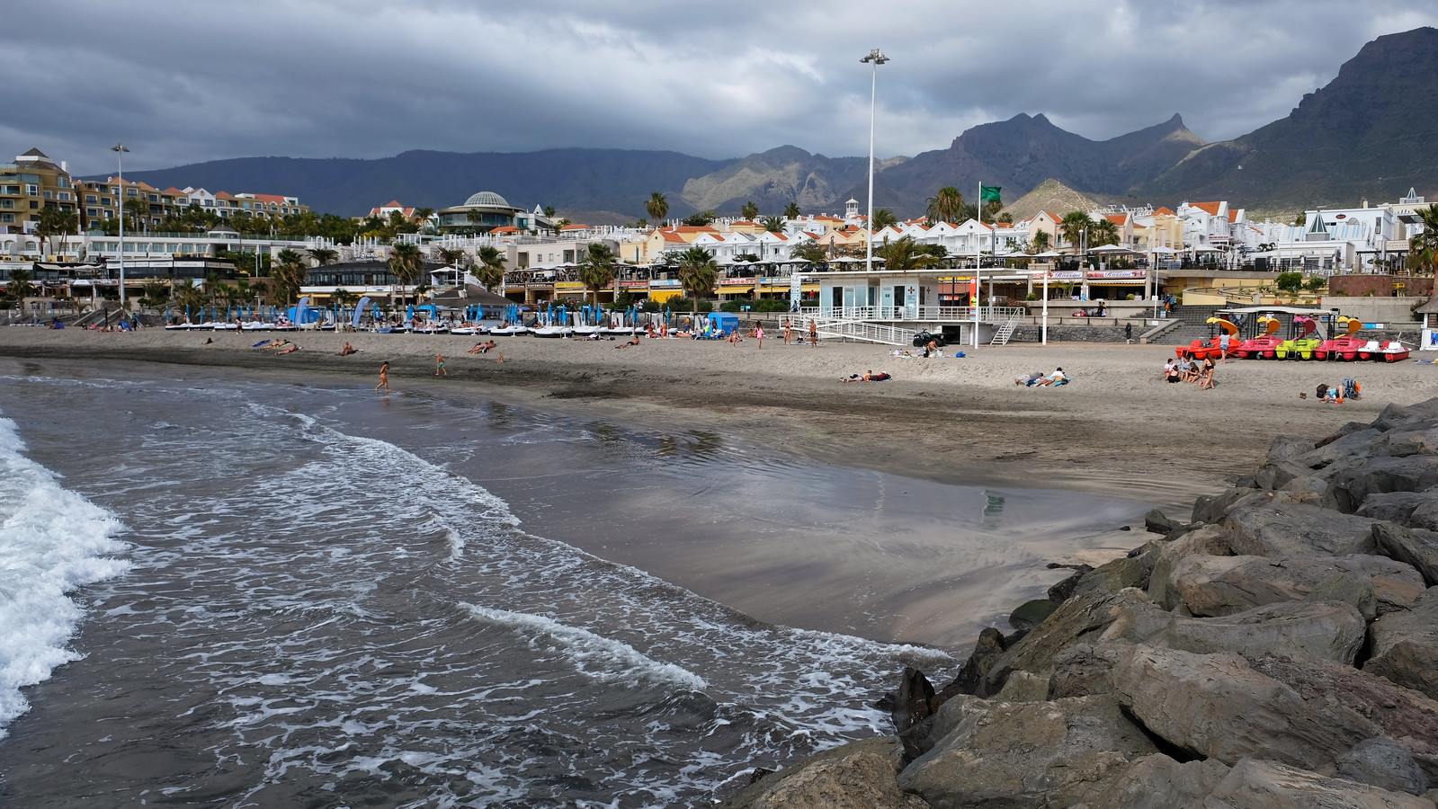 Fañabe Beach, Costa Adeje, Tenerife, Canary Islands, Spain
