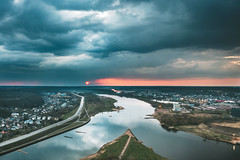 Dramatic sunset | Kaunas aerial