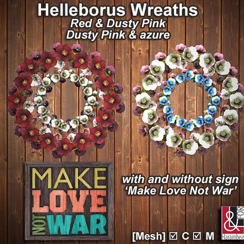 Helleborus Wreaths - Make Love sign