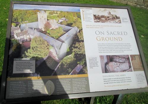 Culross Abbey Information Board