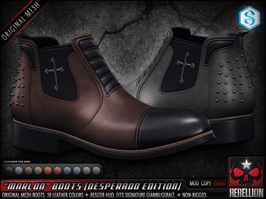 "= REBELLION = ""MARLON"" BOOTS (DESPERADO EDITION)"
