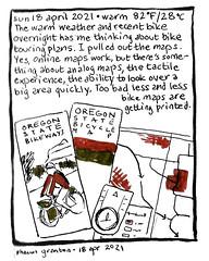 Journal Comic, 18 April 2021. Maps.