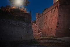 Luci di notte alla fortezza di Grosseto - Lights at night at the fortress of Grosseto