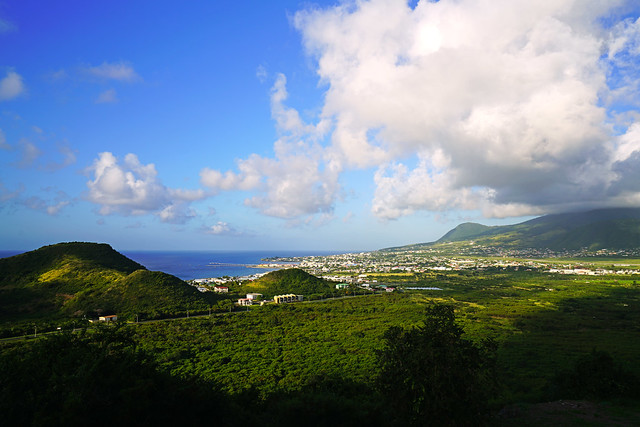 Green valley & hills, St Kitts