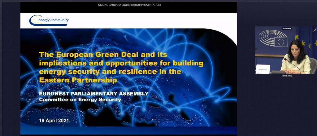 19.04.2021 Participarea deputaților Igor Vremea și Igor Munteanu la Reuniunea Comisiei pentru Securitate energetică a AP EURONEST