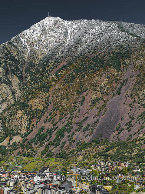 Andorra mountain landscape: Andorra la Vella, the center, Andorra