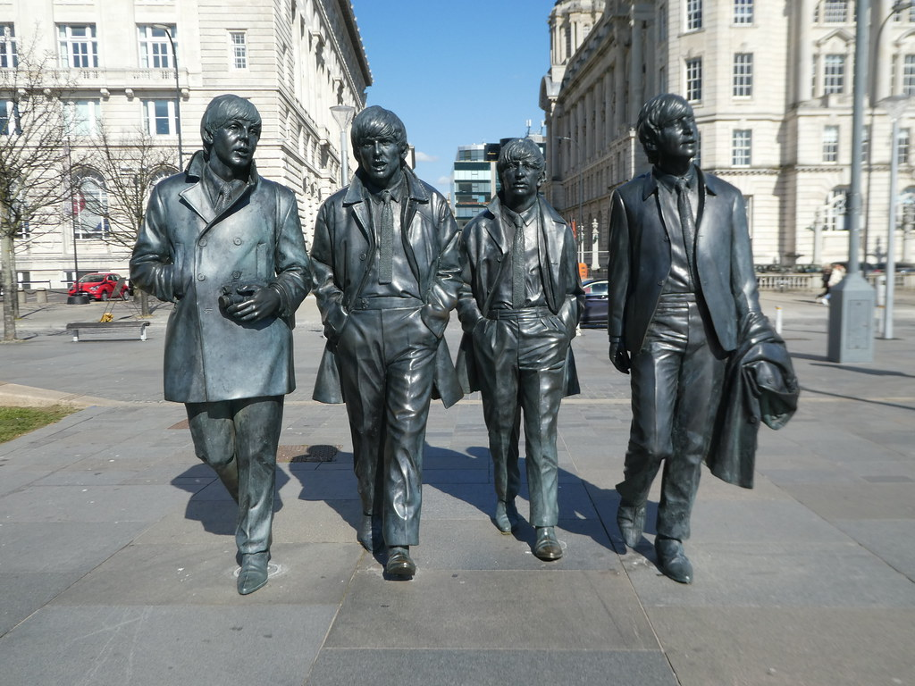Statue of The Beatles, Pier Head, Liverpool
