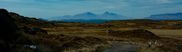 Near Sanna, Rum and the Small Isles visible