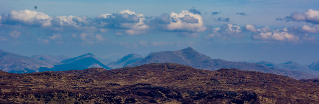 Pano looking south/east over Beinn Resipole
