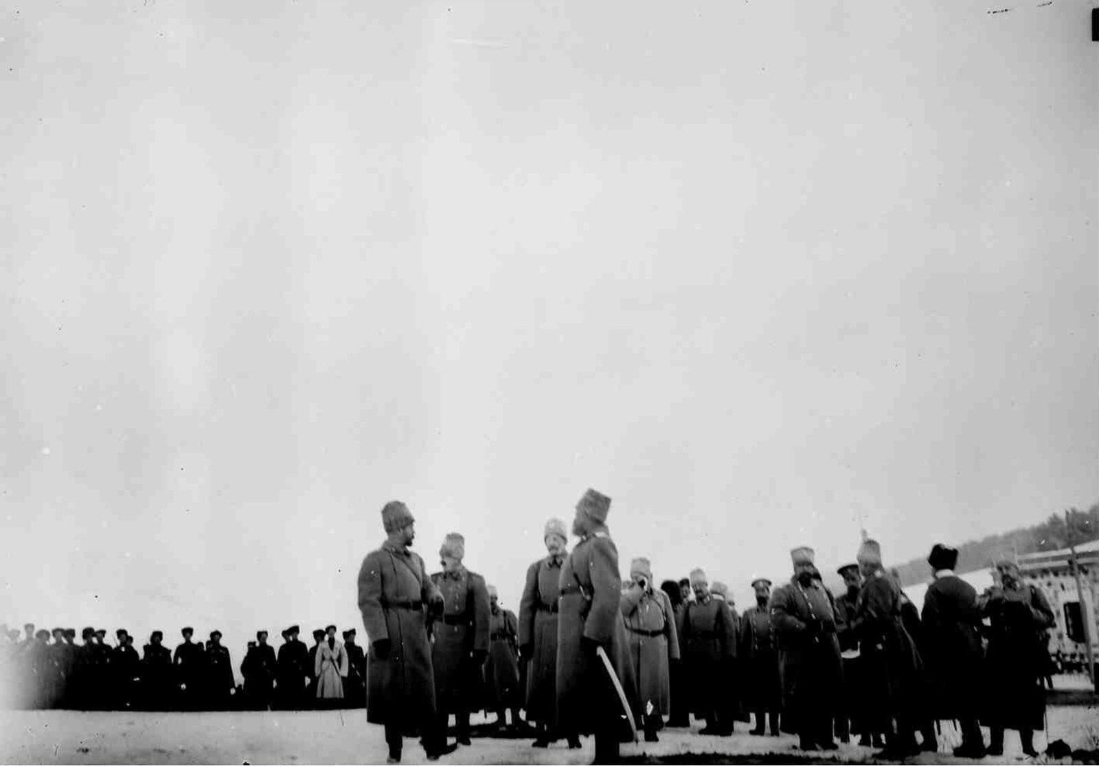 06. 1914. Николай II и командование Кавказского фронта в Сарыкамыше после взятия его русскими войсками