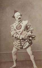 The clown Harry Payne, c. 1865, from original carte-de-visite