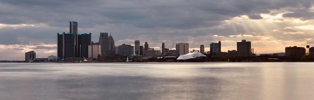 Sunset over Detroit