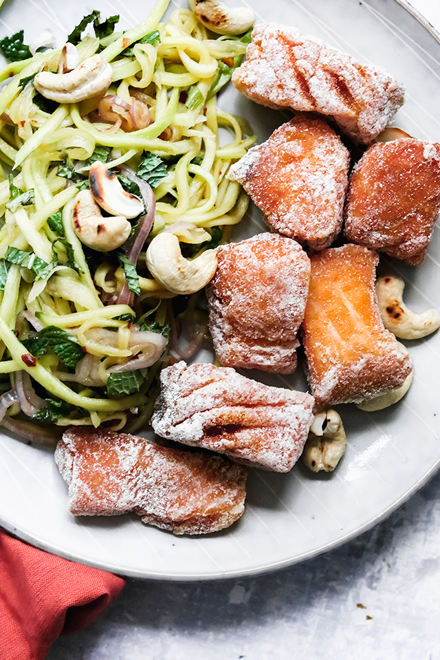 Crispy Thai Fried Fish and Green Mango Salad