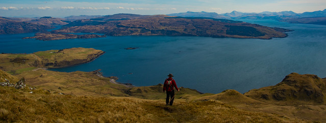 Heading down towards Loch Sunart