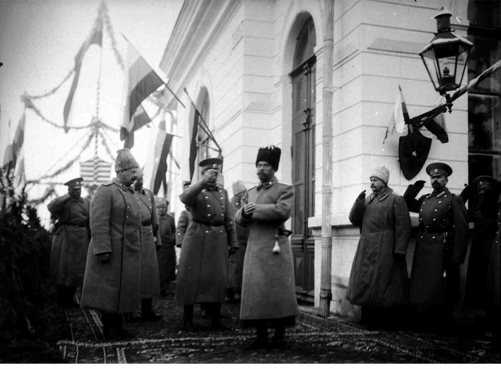 01. 1914. Встреча Императора Николая II на вокзале в Сарыкамыше 1 декабря