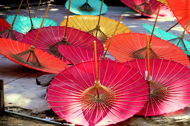 Umbrellas of Myanmar
