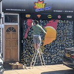 That Comic Shop on Frairgate, Preston, gets new mural. Think it's Batman