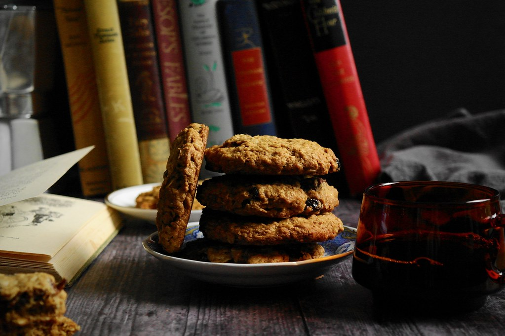 oatmeal cookies with dried fruit (for reading)