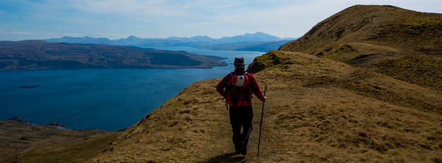 On the way up Ben Hiant - Ben More and Mull on horizon
