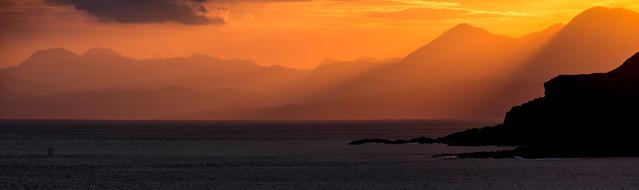 Sunrise from camp near Sanna, West Highlands of Scotland