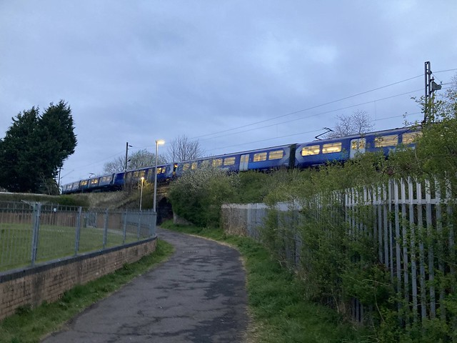 6 Car Class 320/X Service Between Westerton and Bearsden on the Milngavie Branch Line